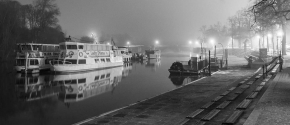 A Foggy Night on the Dee in Chester